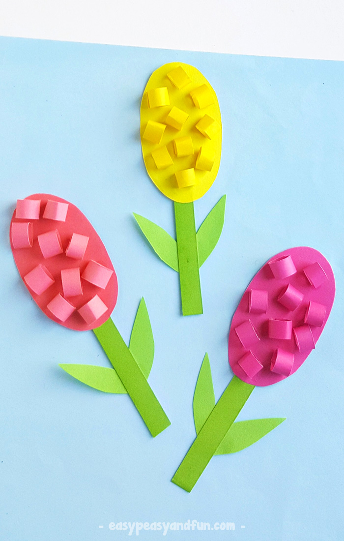 Paper Hyacinths Flower Craft For Kids Easy Peasy And Fun