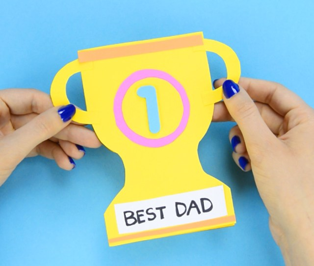 Fathers Day Trophy Card Craft