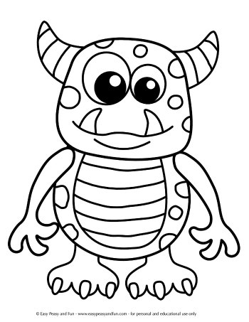 cute monster coloring pages # 13