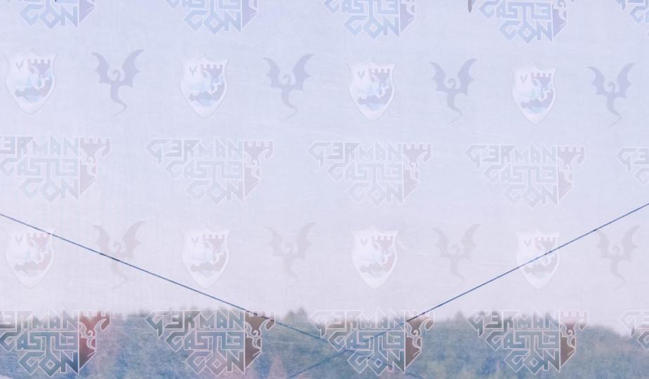 Hintergrund der Bühne auf der German Castle Con