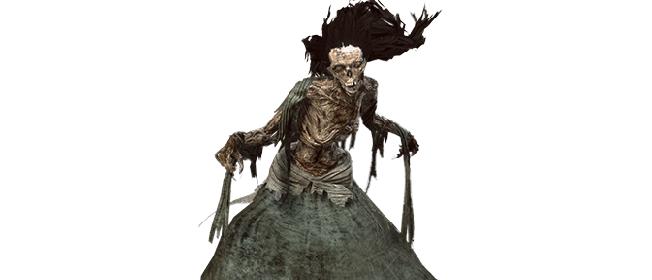 Eine Erscheinung aus Witcher 3 Wild Hunt für das Bestiarium