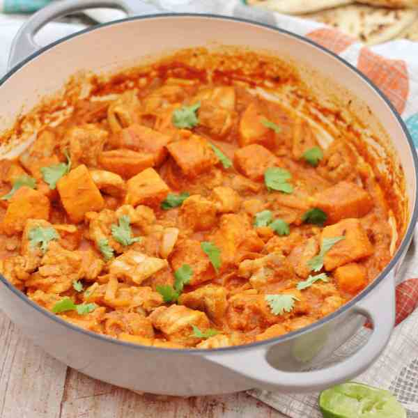 Roast Chicken Leftovers Curry