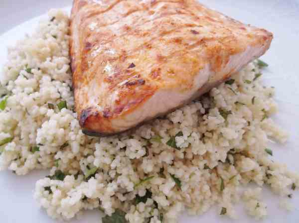 Harissa Salmon and Herby Couscous 2