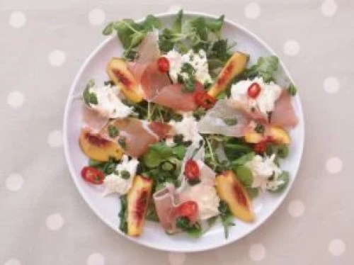Peach, Prosciutto and Mozzarella Salad 6