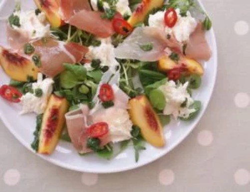 Peach, Prosciutto and Mozzarella Salad 8