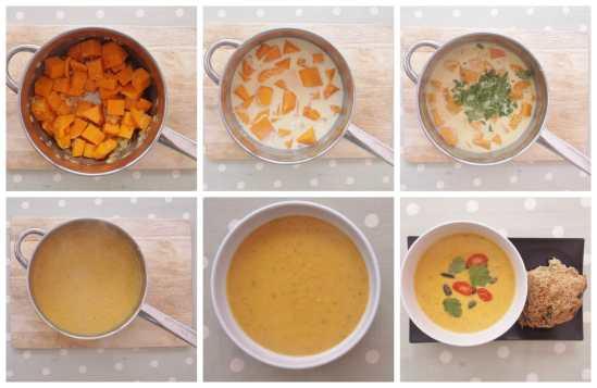 Butternut Squash Soup Collage 1