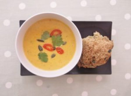 Butternut Squash Soup and Soda Bread
