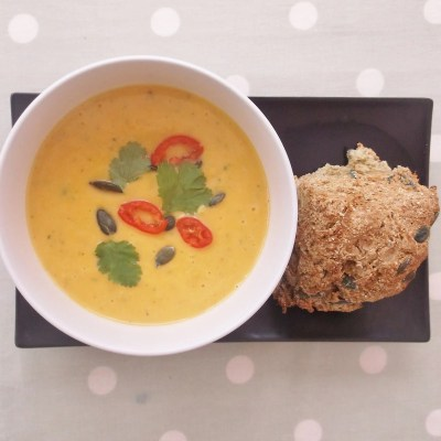 Butternut Squash, Chilli and Coconut Milk Soup (Vegan)