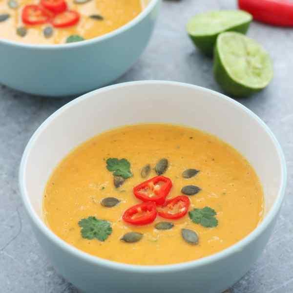 Butternut Squash, Chilli and Coconut Milk Soup