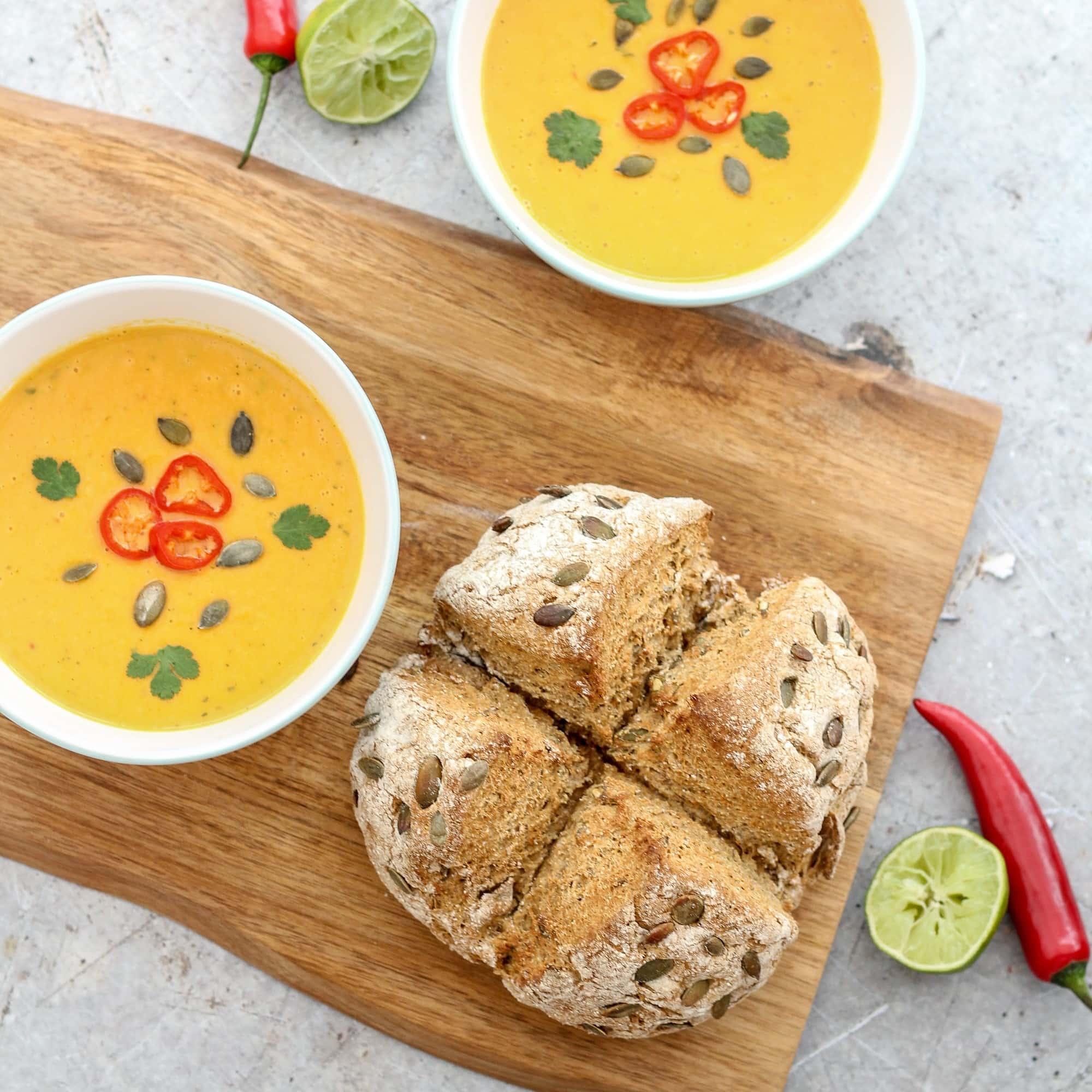 Butternut Squash Chilli And Coconut Milk Soup Vegan