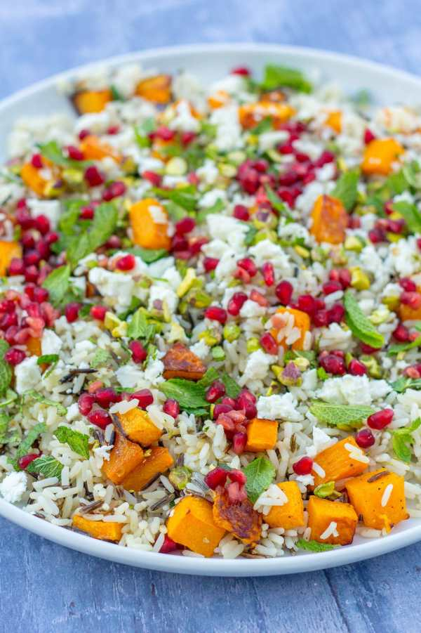 Easy Christmas Rice Salad