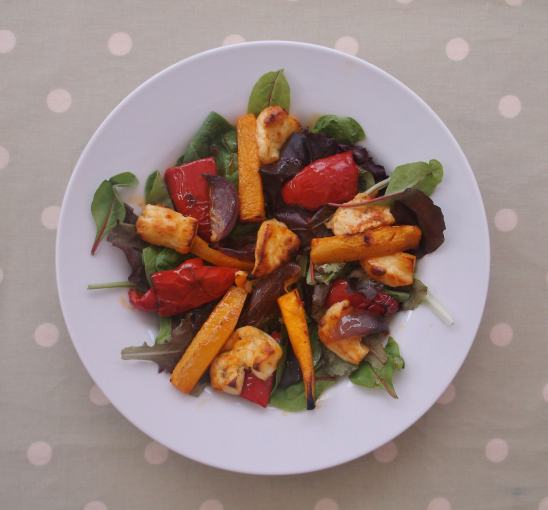 Warm Butternut Squash, Harissa and Halloumi Salad 5