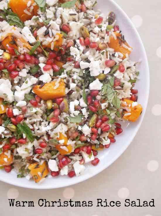 Warm Christmas Rice Salad 9 with text