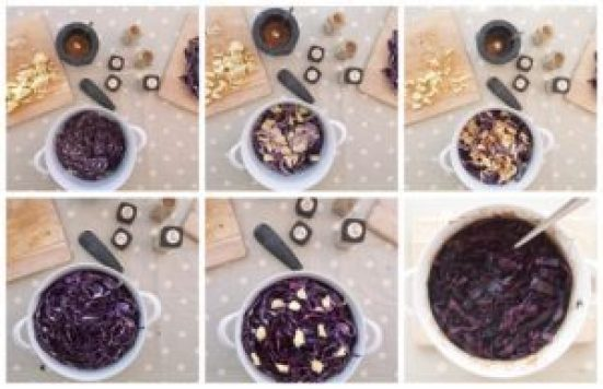 Braised Red Cabbage Collage 3