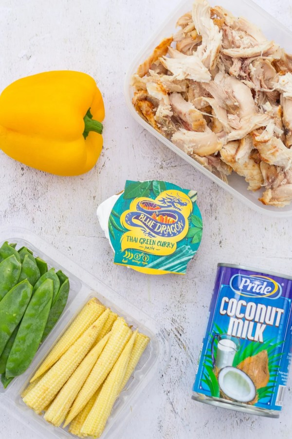 Leftover Turkey Thai Green Curry Ingredients