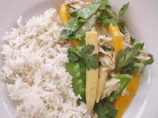 Leftover Turkey Thai Green Curry 1