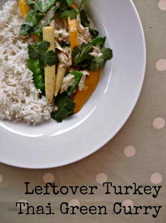If you want a super easy leftover turkey recipe that is totally different from the Christmas roast meal, why not try my Leftover Turkey Thai Green Curry?