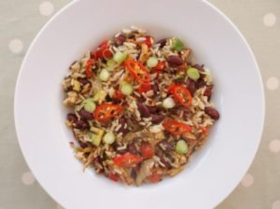 Warm Mexican Style Rice Salad with Leftover Turkey 5