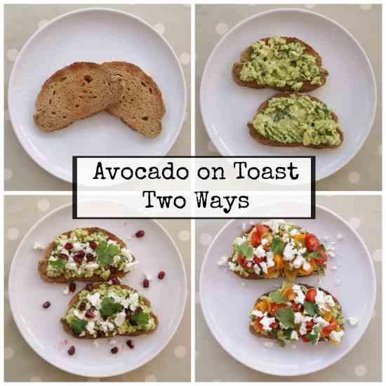 Avocado on Toast Two Ways