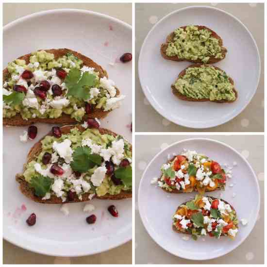 Avocado on Toast Two Ways