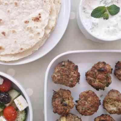 Lamb Kofte Burgers with Homemade Tzatziki and Flatbreads