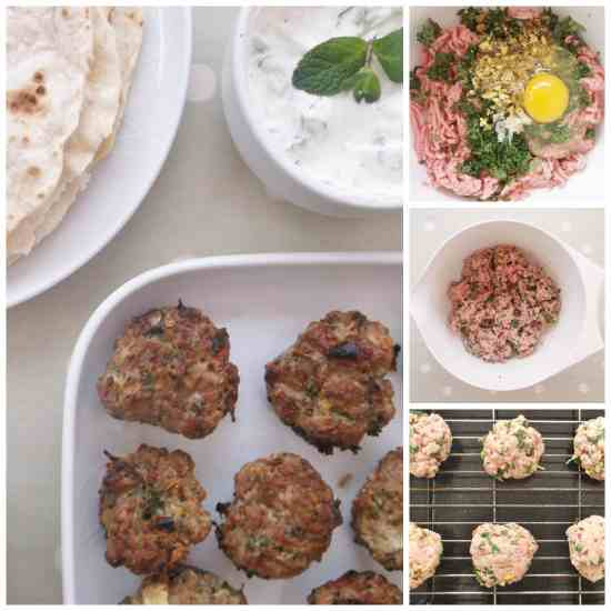Lamb Kofte Burgers with Homemade Tzatziki and Flatbreads