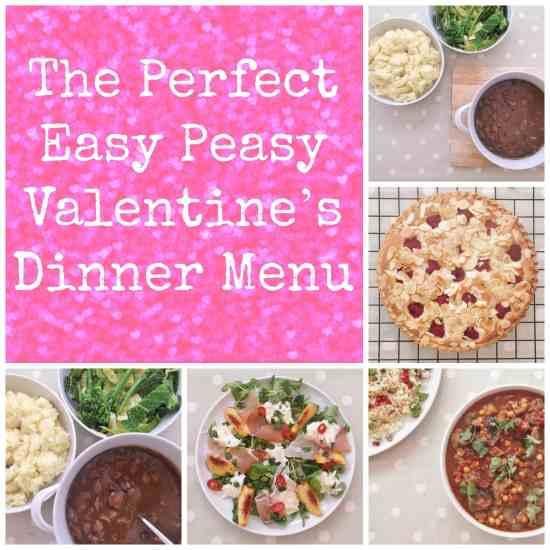 The Perfect Easy Peasy Valentine's Dinner Menu