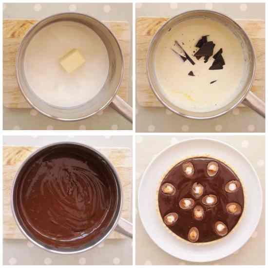 Easy Peasy 5 Ingredient Creme Egg Chocolate Tart