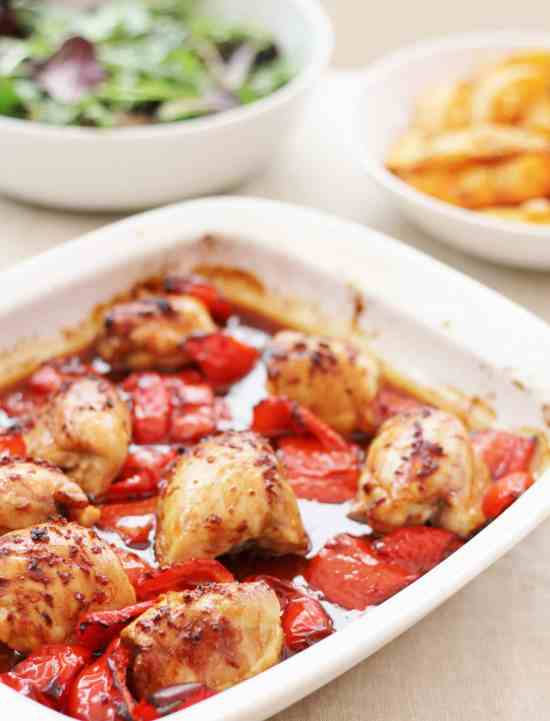 Mary Berry Sticky Chicken and Potato Wedges
