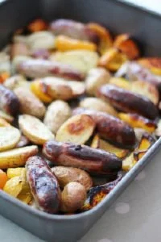 Mary Berry Roasted Sausage and Potato Supper