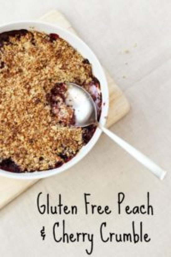 Gluten Free Peach and Cherry Crumble