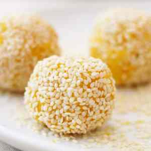 Raw Mango and Coconut Bites from Ready Steady Glow by Madeleine Shaw