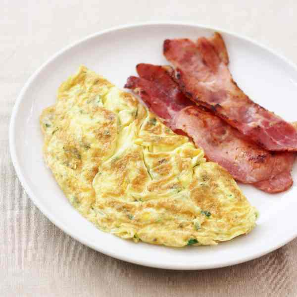 Sirtfood Omelette with Bacon