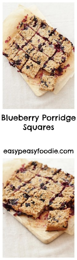 Blueberry Porridge Squares