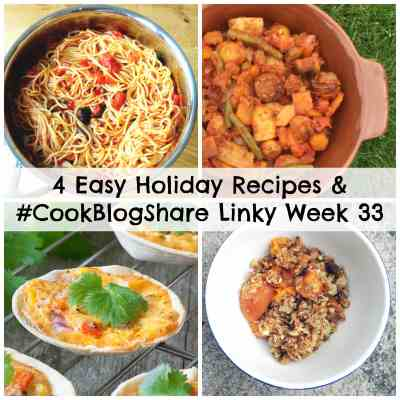 4 Easy Holiday Recipes and #CookBlogShare Linky Week 33