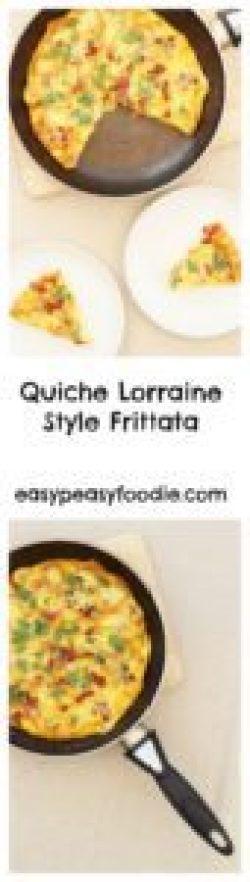 Quiche Lorraine Style Frittata