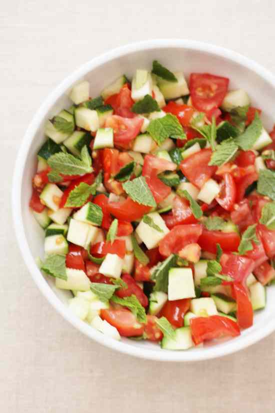 Courgette and Tomato Salad