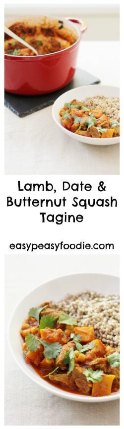 Lamb, Butternut Squash and Date Tagine