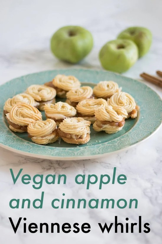 Vegan Apple And Cinnamon Viennese Whirls