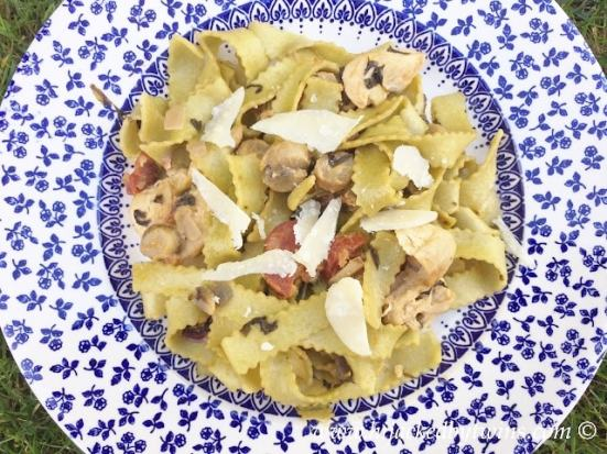 Chicken and Chorizo with Artisan Tagliatelle