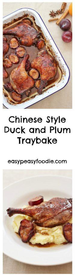 Chinese Style Duck and Plum Traybake