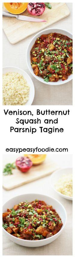 Venison, Butternut Squash and Parsnip Tagine