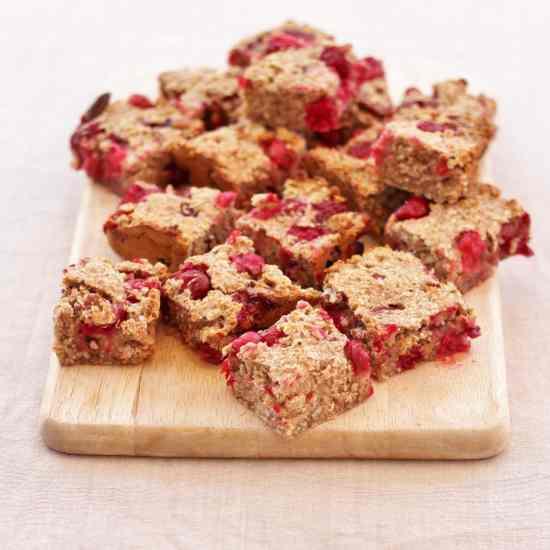 Cranberry Cinnamon and Pecan Porridge Squares