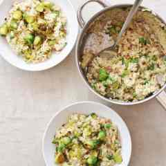 Ham, Pea and Sprout Risotto