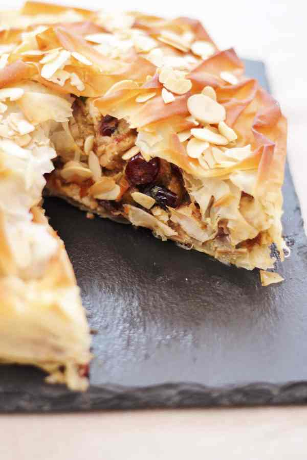 Moroccan Turkey Filo Pie
