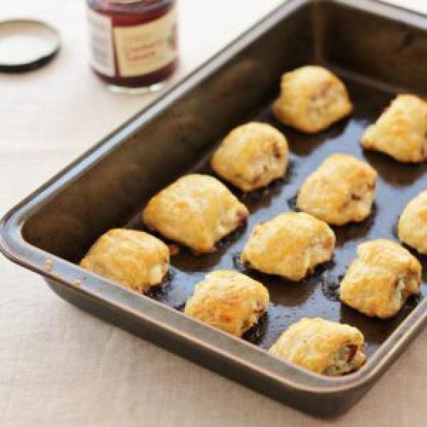 Turkey, Cranberry and Feta Sausage Rolls