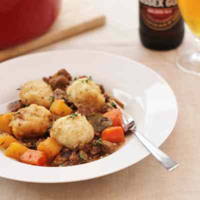 Beef and Ale Stew with Dumplings