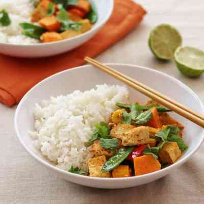 Thai Red Tofu and Sweet Potato Curry