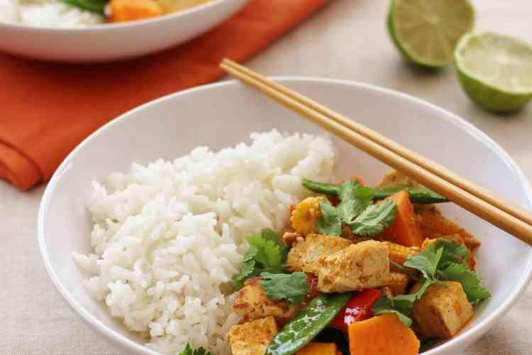 Thai Red Tofu and Sweet Potato Curry (Vegan)