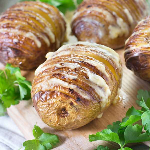 Cheesy Hasselback Potatoes